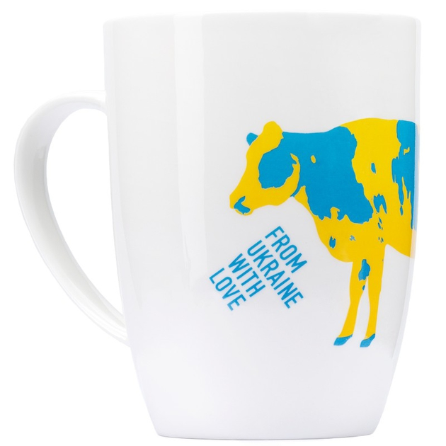 Чашка желто-голубая