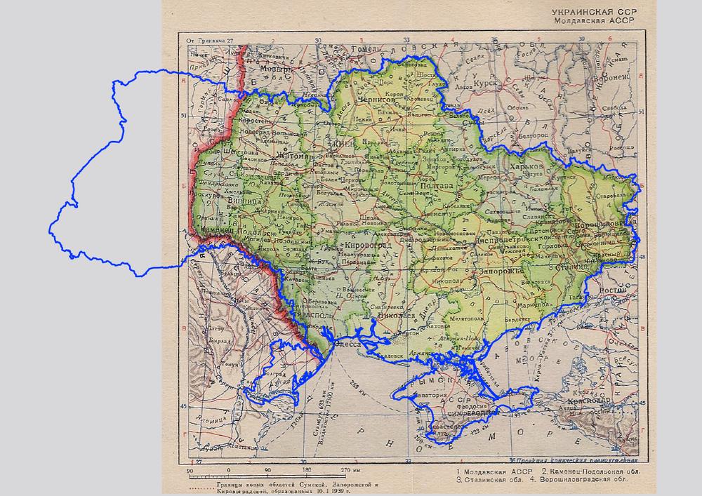 карта УССР