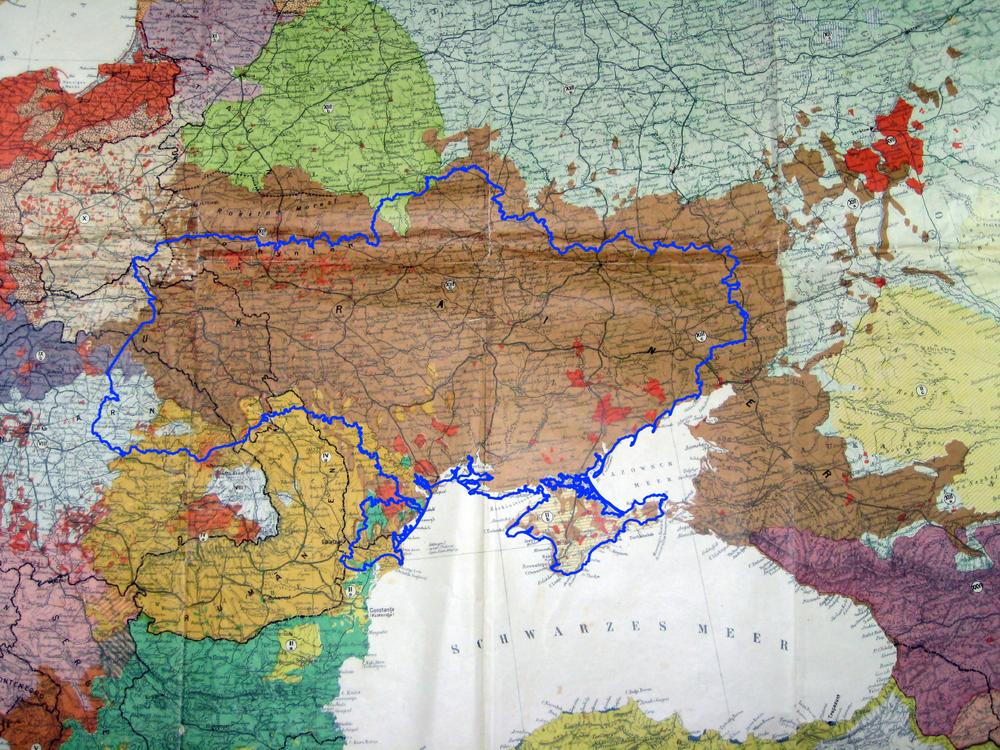 Карта старн и населения Европы Дитриха Шафера