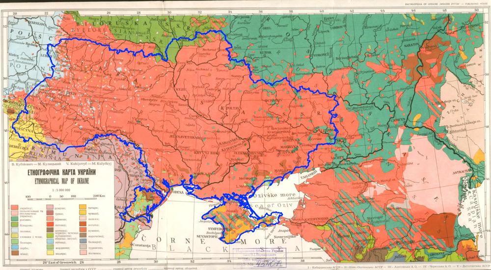 Этнографическая карта Украины 149 года