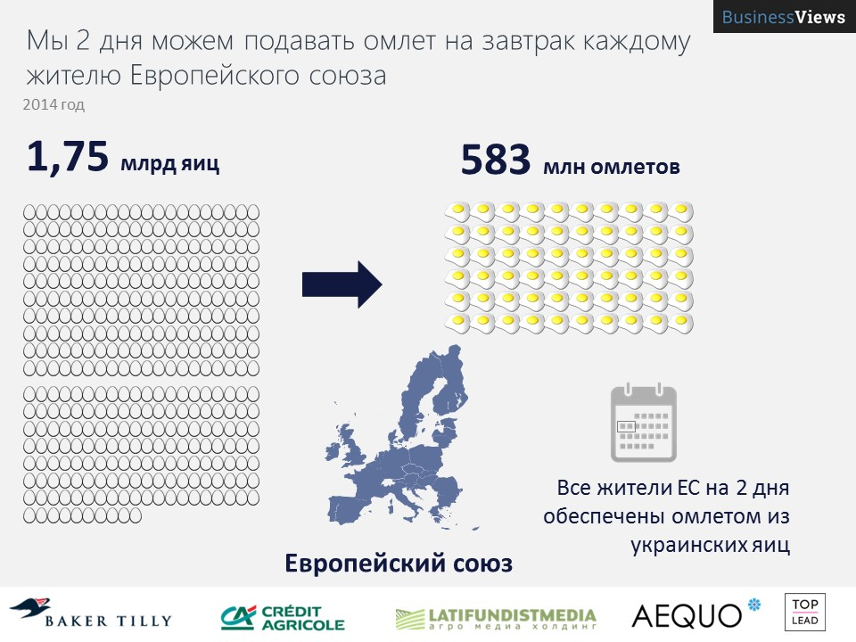 Украина может кормить всю европу омлетами