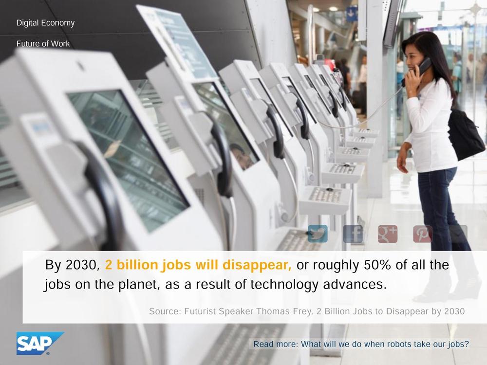 Вместо людей будут работать роботы