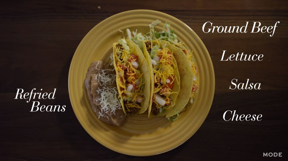 Beef Tacos & Refried Beans