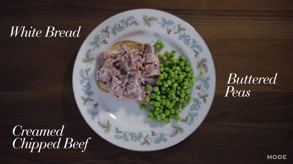 Creamed Chipped Beef & Buttered Peas