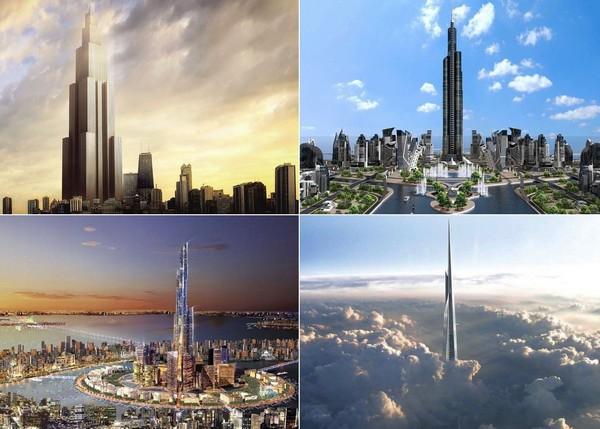 небоскребы высотой километр