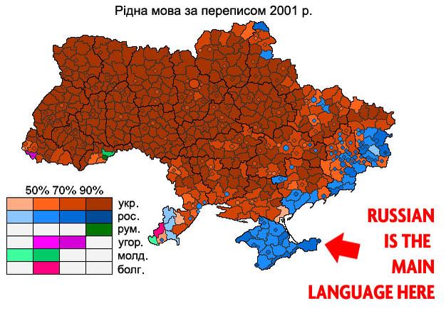 Языковая карта Украины