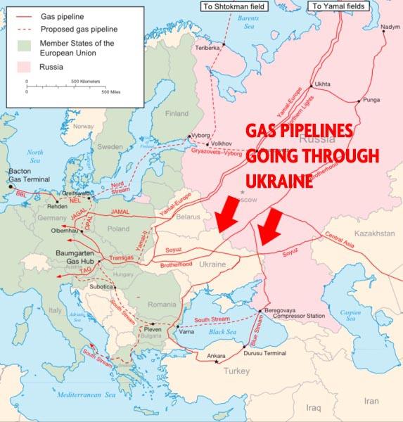 Газопроводы через Украину