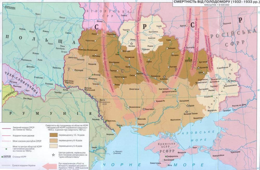 Заселение Украины после Голодомора