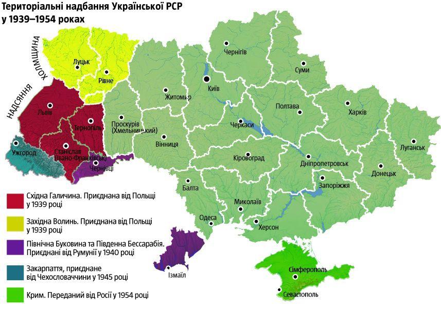 Формирование территории УССР
