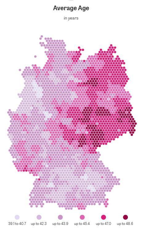 средний возраст в Германии