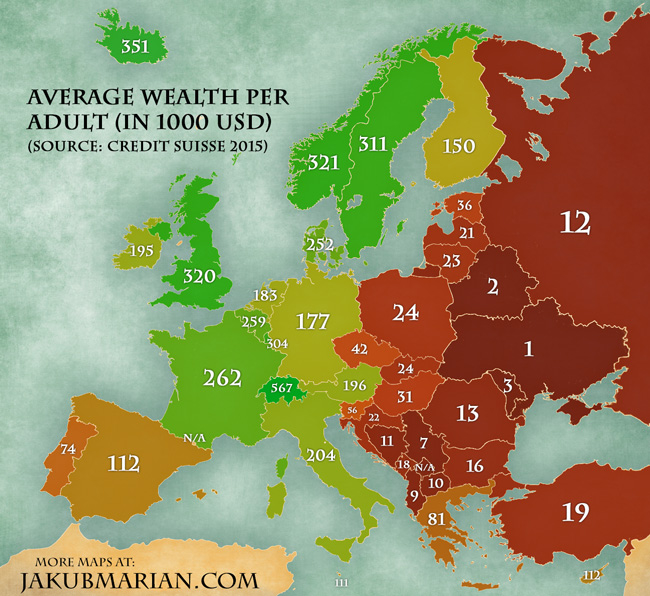 Украина — самая бедная в Европе