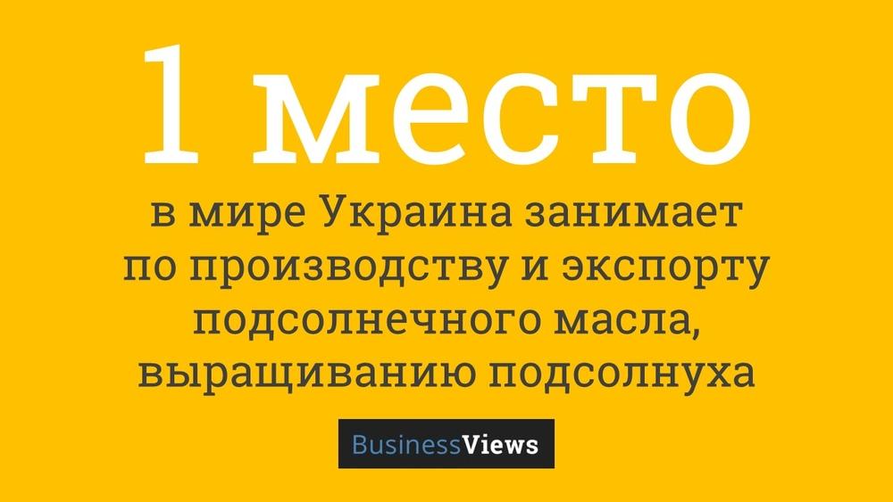 Украина — лидер по производству подсолнечного масла