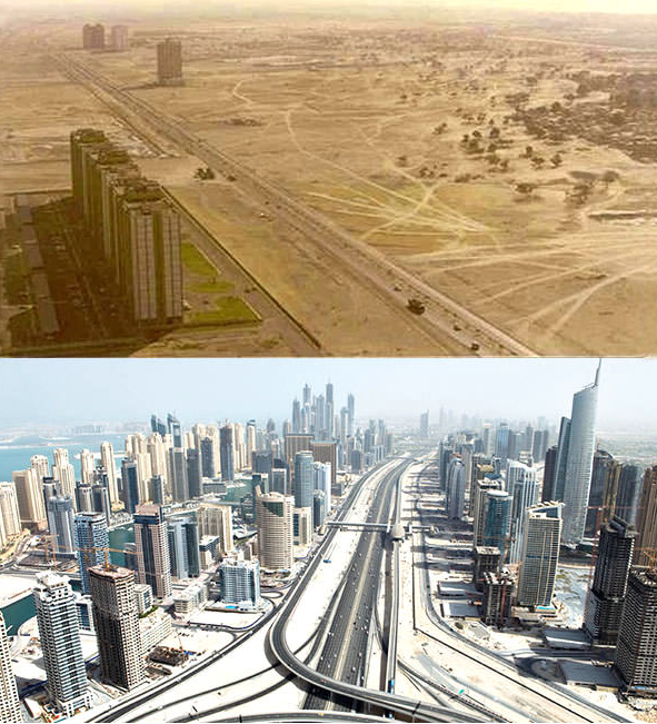 Дубаи в 1990 году