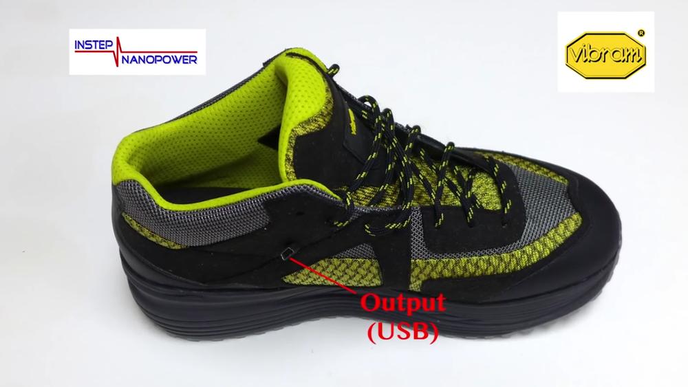 кроссовки с электрогенератором