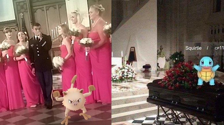 Ловля покемонов на свадьбе