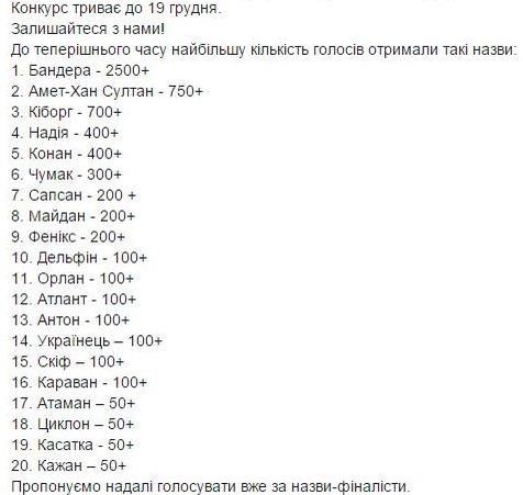 """Голосование за название для самолета """"Антонова"""" в Facebook"""