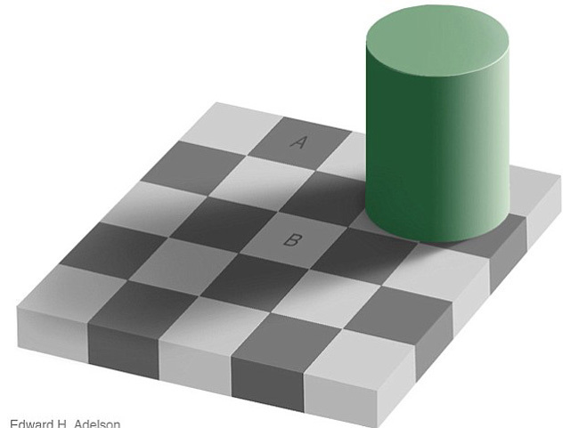 оптический обман с квадратами