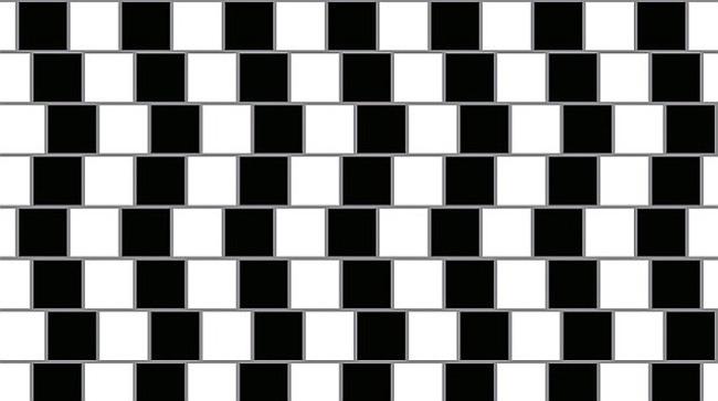 обман зрения параллельные линии