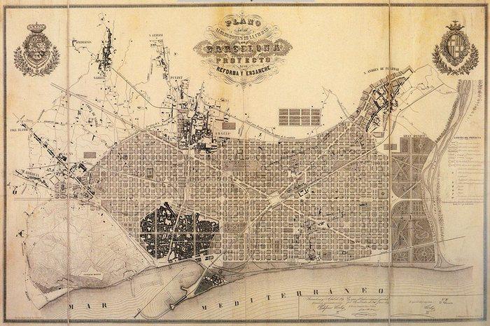 старинная карта берселона