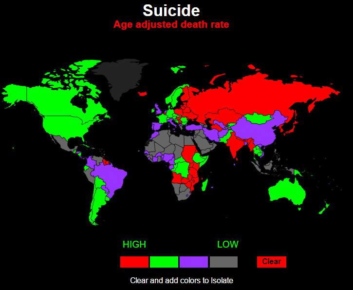количество самоубийств