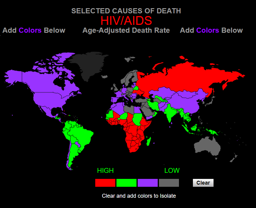 смертность от ВИЧ/СПИД