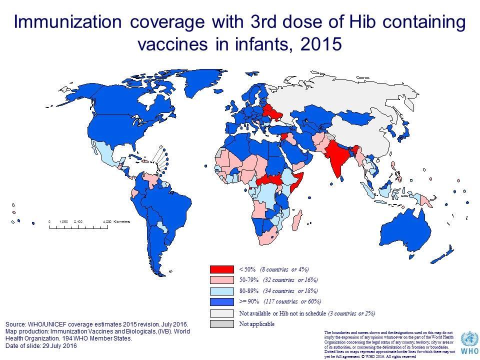 охват прививками в мире