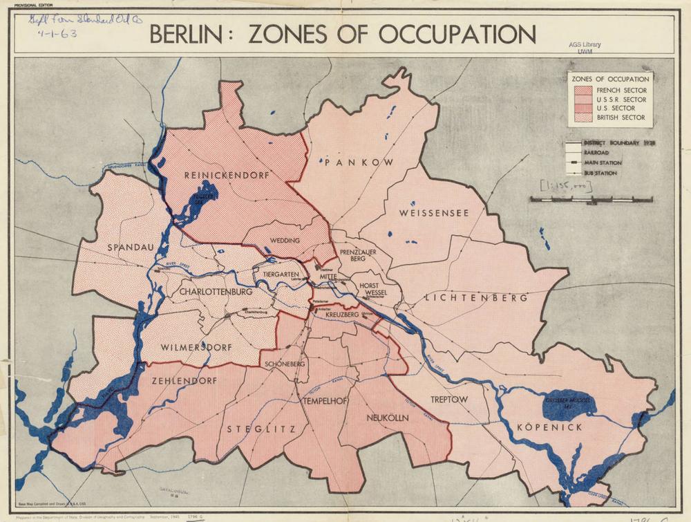 оккупационные зоны Берлина