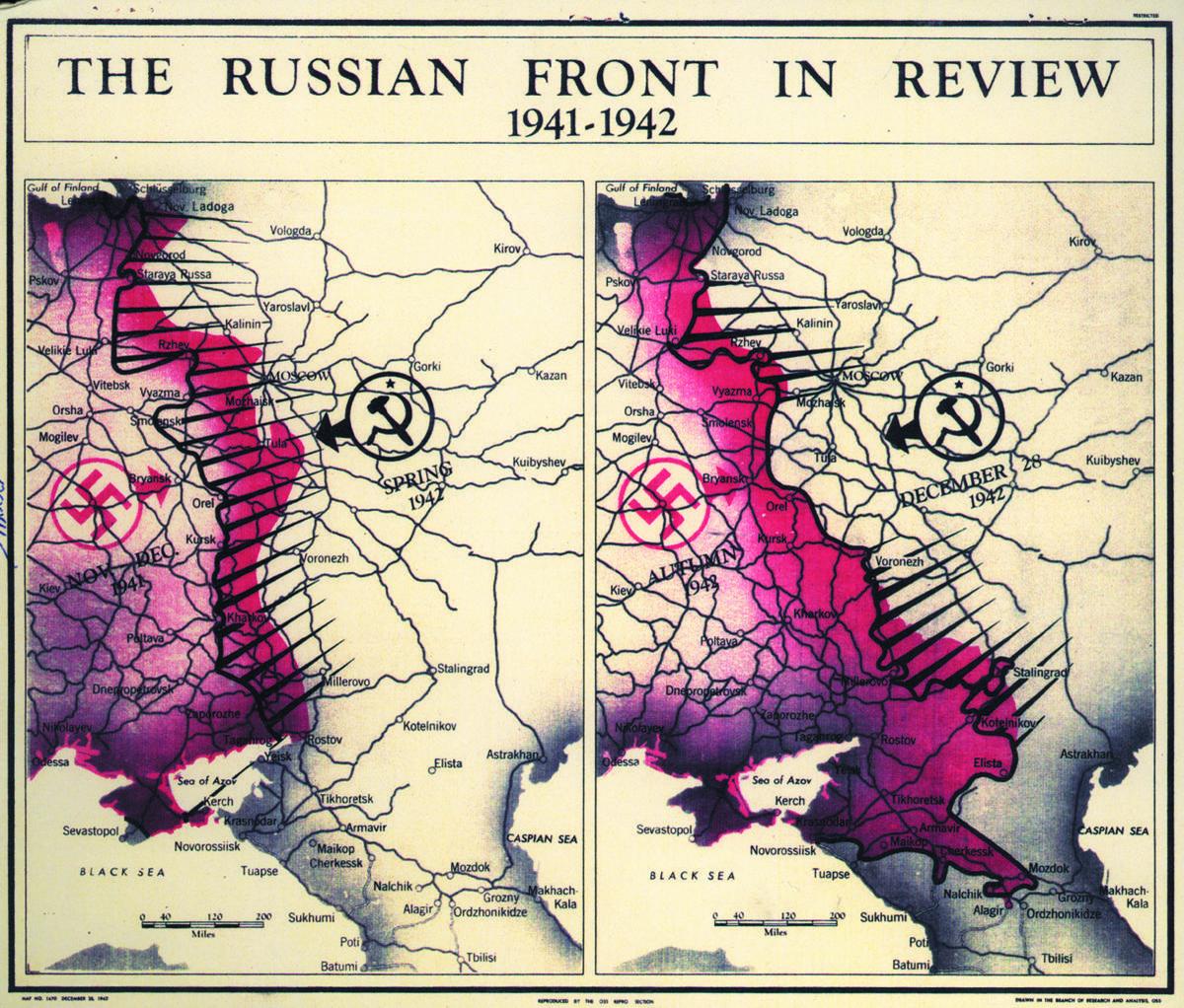 вторая мировая война карта