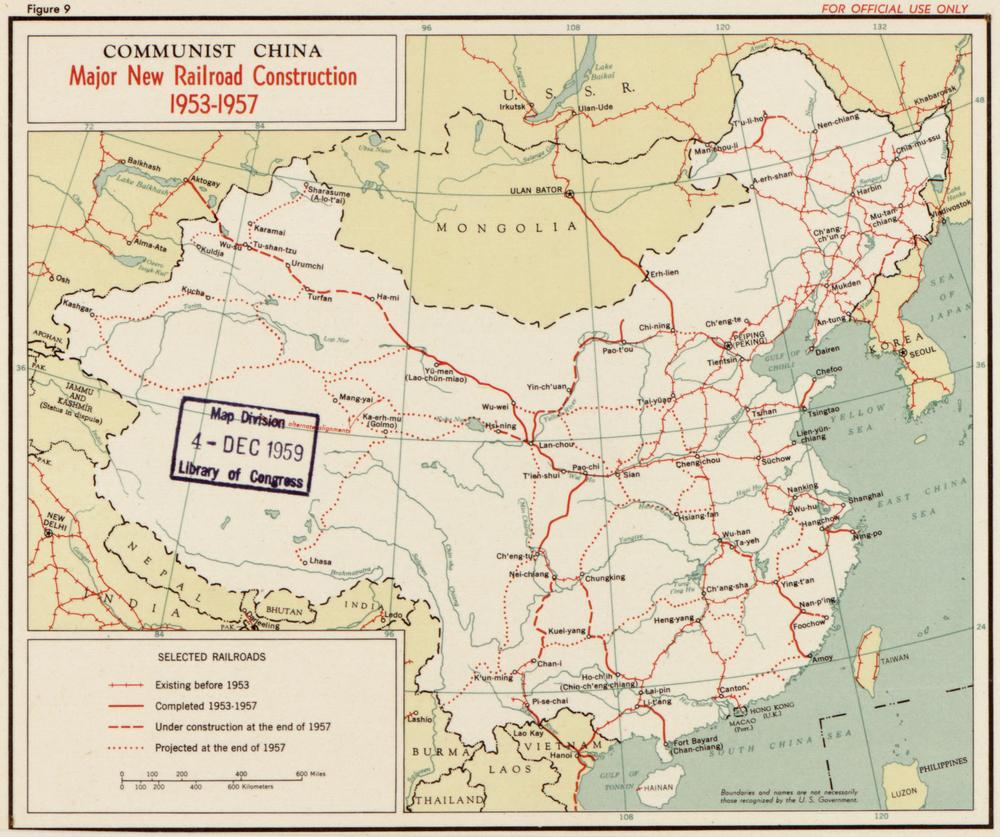 железные дороги в Китае