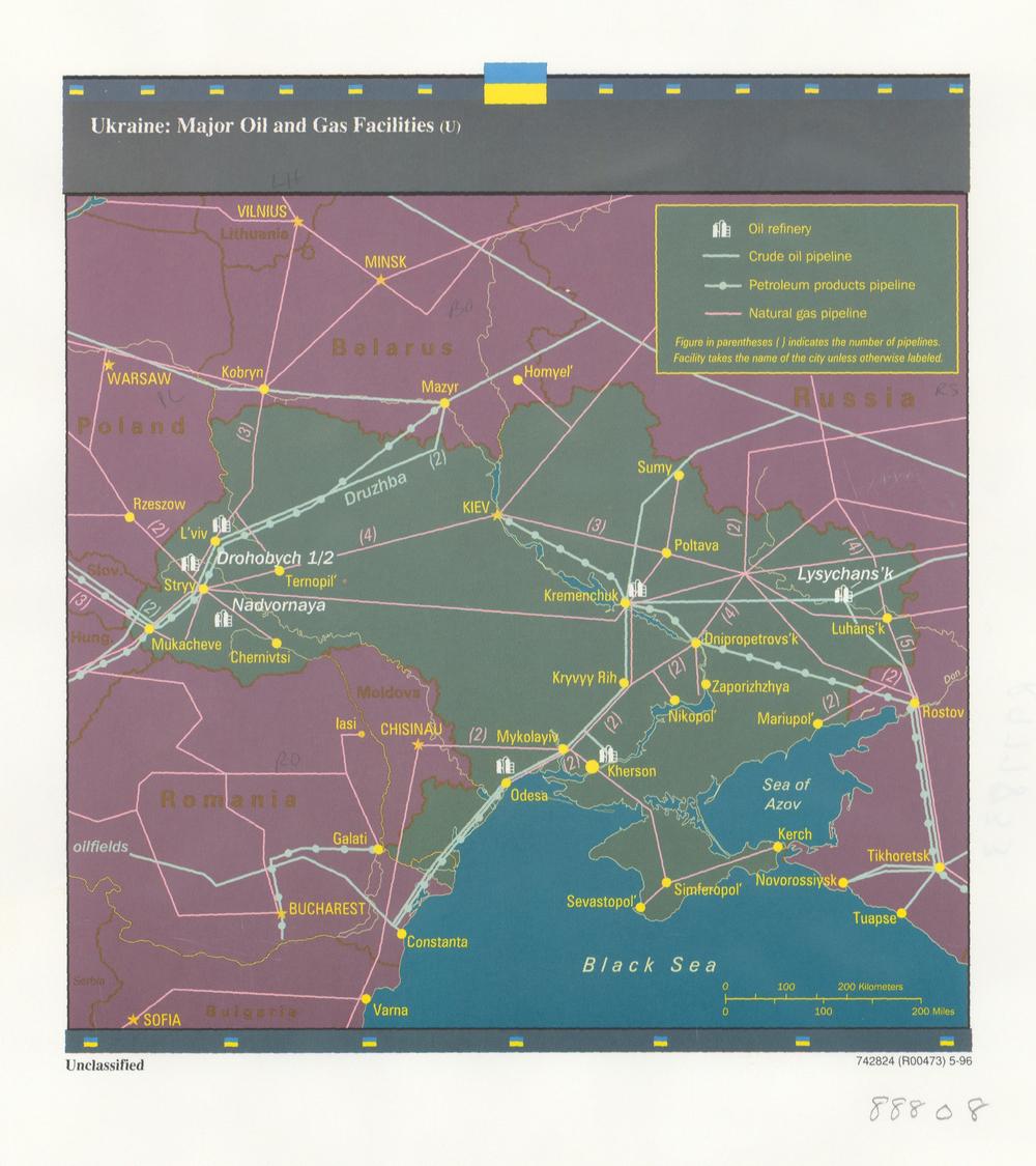 ГТС Украины карта