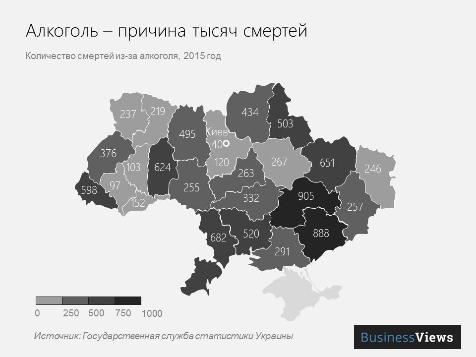 смертность от Алкоголя в Украине