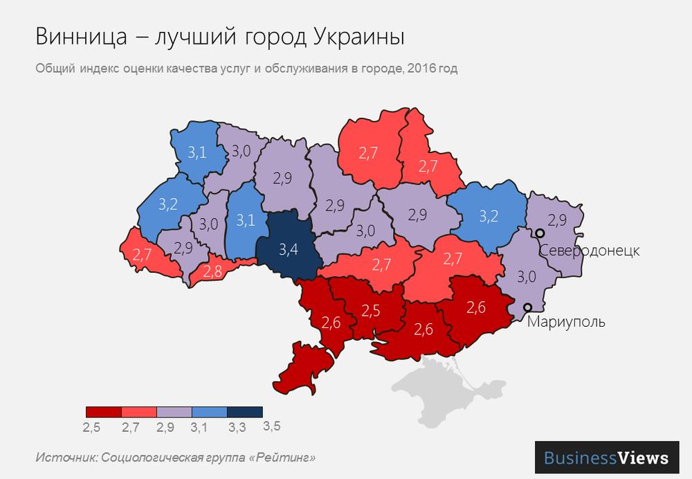 Винница — лучший город Украины