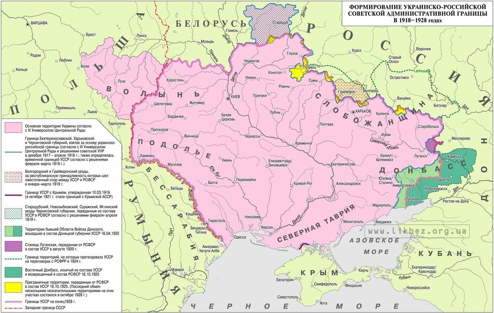 обмены территорий между Украиной и Россией