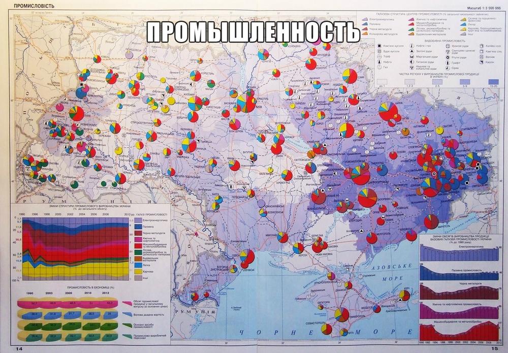 карта украинской промышленности