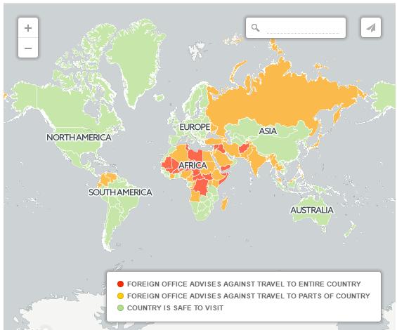 В каких странах безопасно?