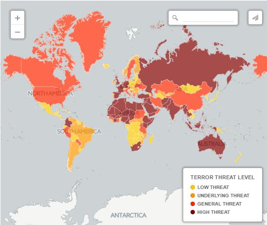 Вероятность террористической атаки