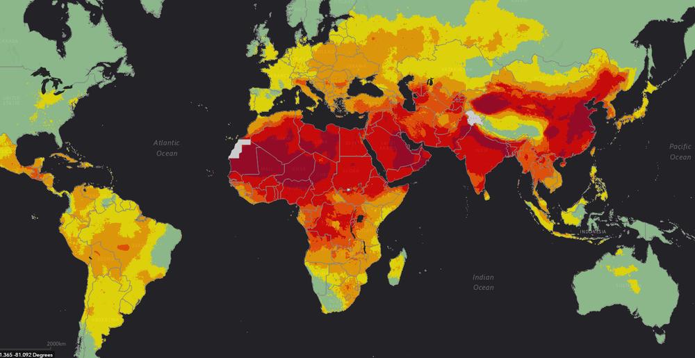 карта загрязнения воздуха