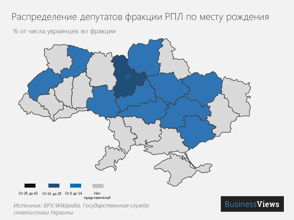 """Места рождения депутатов от """"РПЛ"""""""