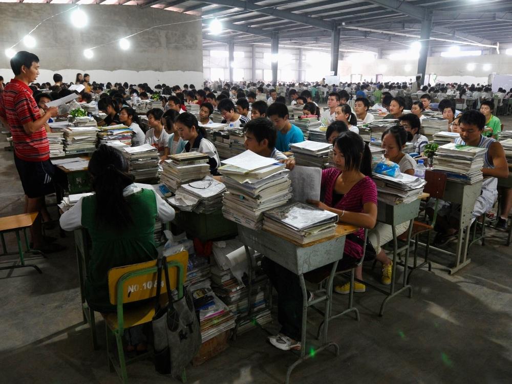 подготовка к экзаменам в Китае