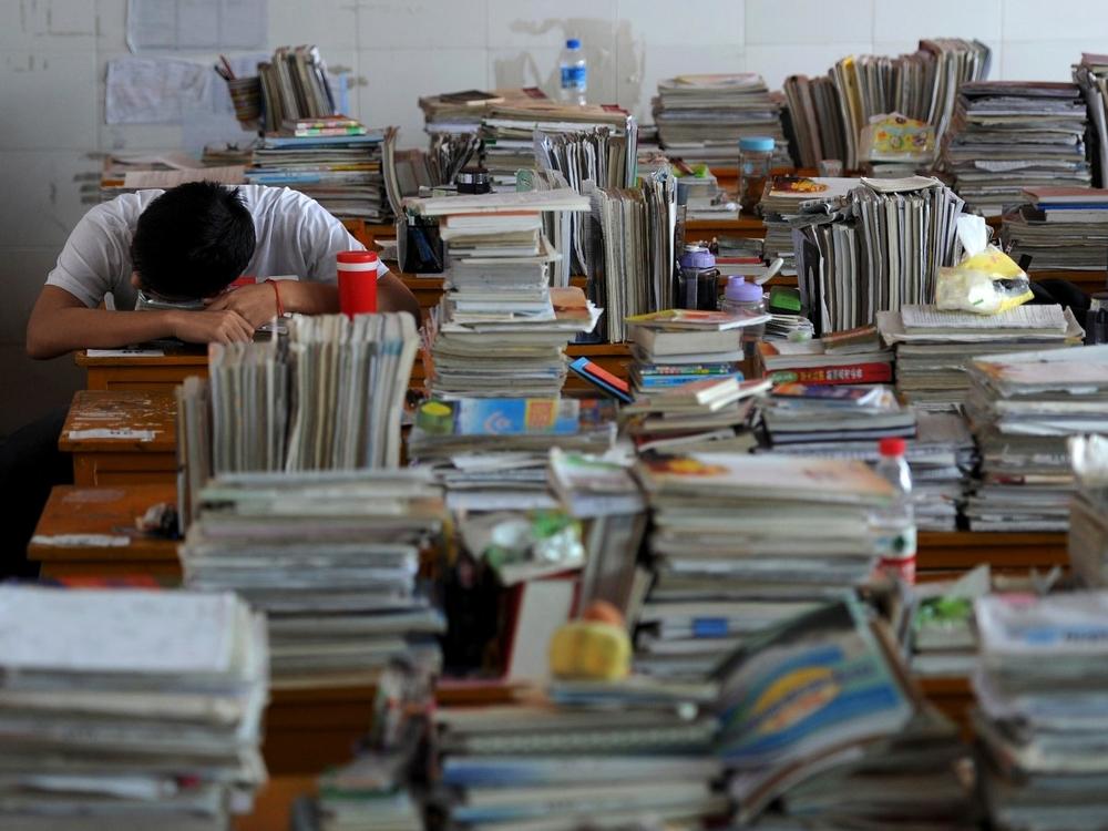 китайский студент устал