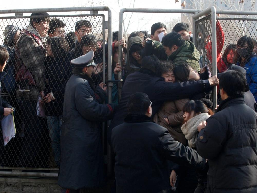 студенты полиция китай