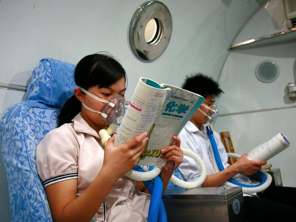 кислородные маски в китае
