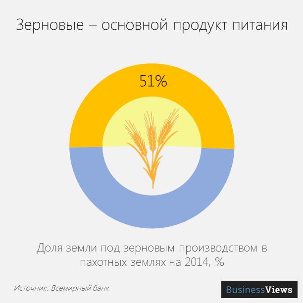 Зерновые — основной продукт питания