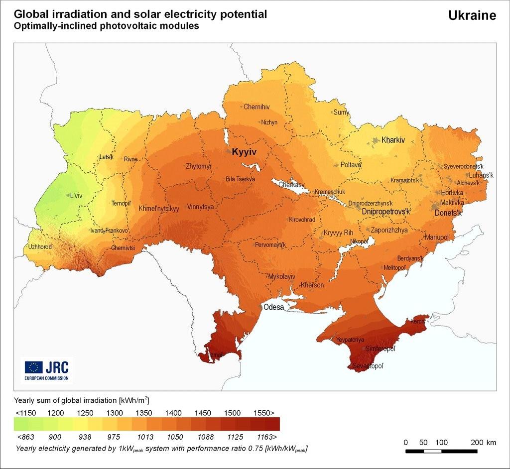 карта солнечной активности