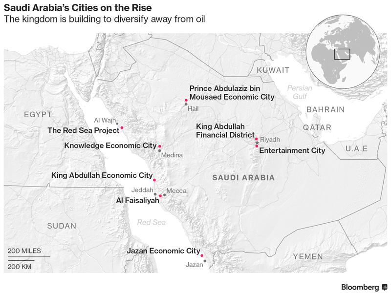 новые города в саудовской аравии