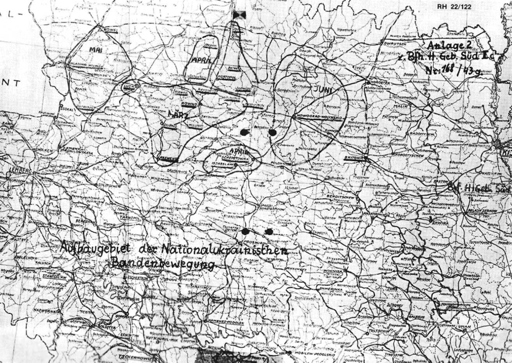 Районы развития национал-украинского бандитского движения
