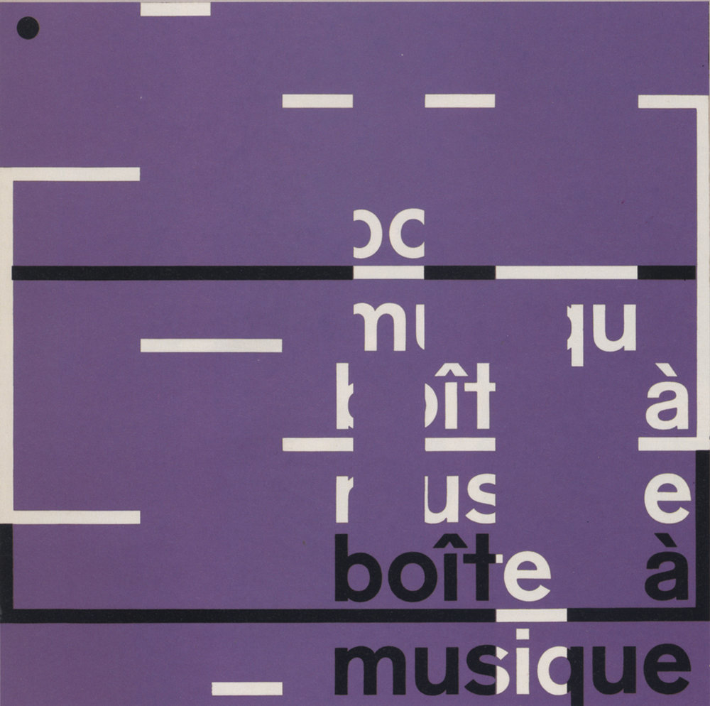 The cover of the album Boite a Musique