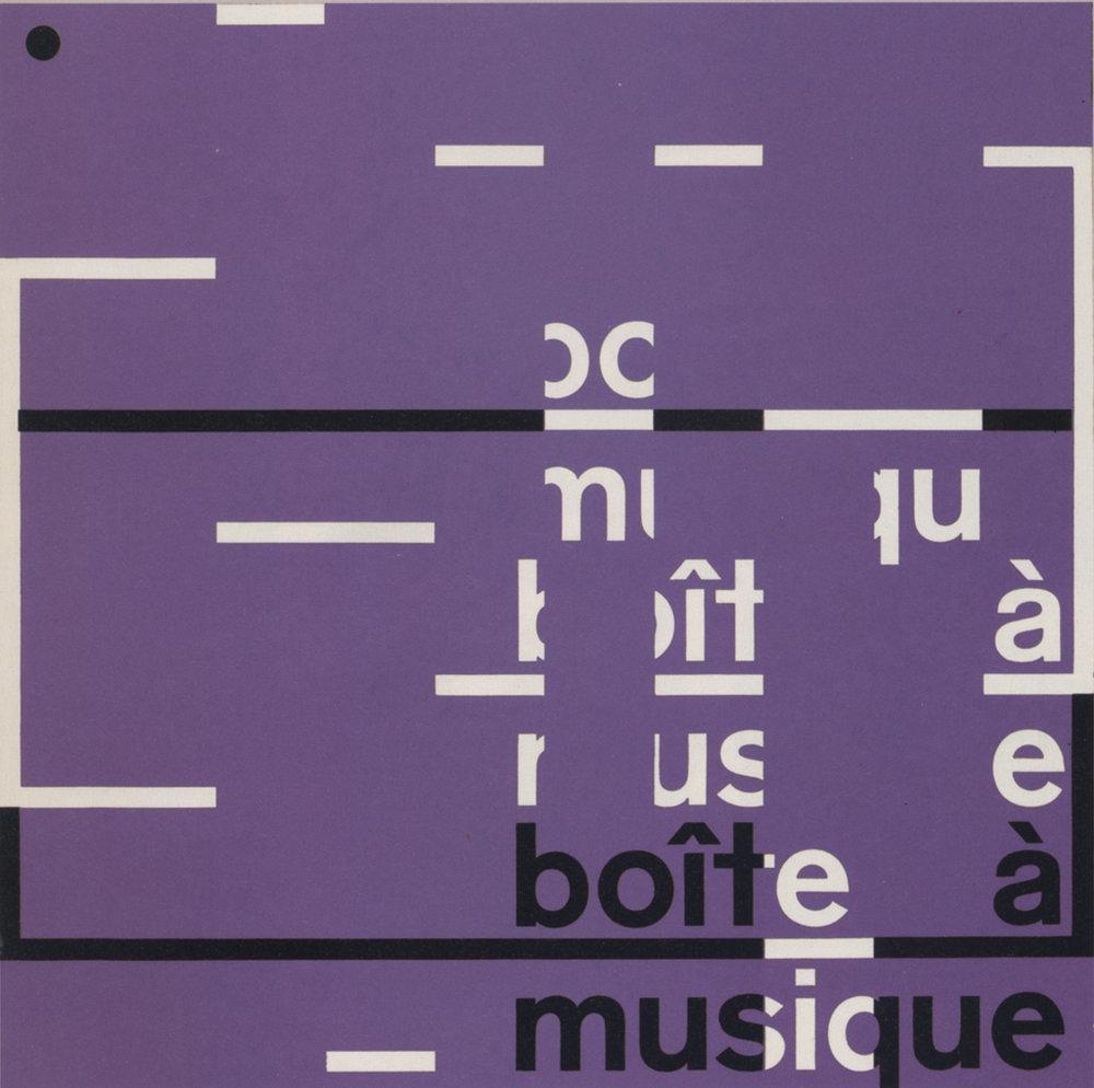 The cover of the album Boite a Musique