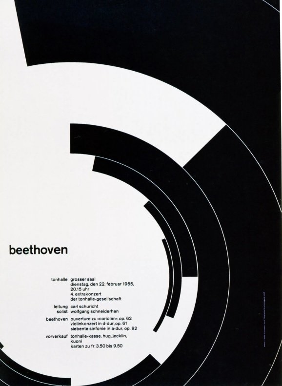 Poster 'Beethoven' for the concert hall