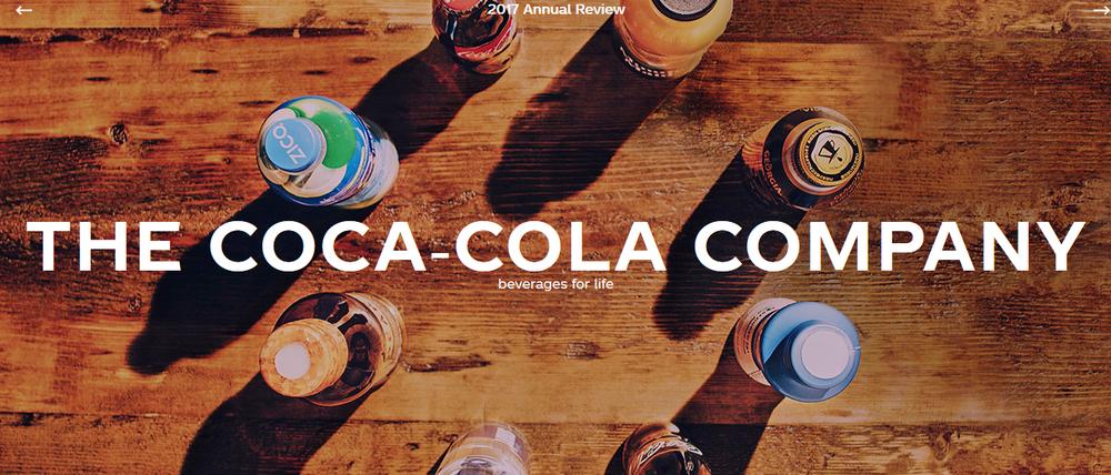 Годовой отчет кока-кола